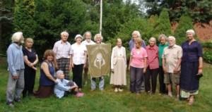 Draugijos stovyklos vėliava nuleista